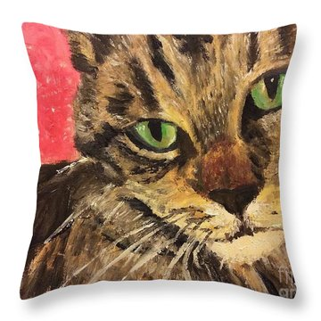 Mr Maowell Throw Pillow