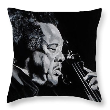 Mr Mingus Throw Pillow by Brian Broadway