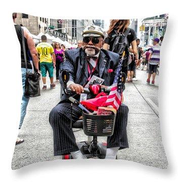 Mr. Mobile Throw Pillow