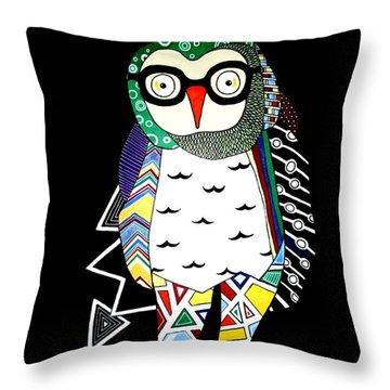 Mr. Owl Throw Pillow