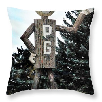 Mr. Pg Throw Pillow