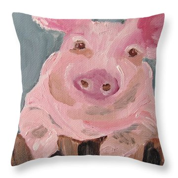 Mr Piglet Throw Pillow