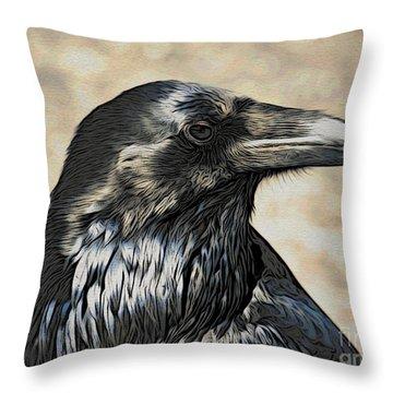 Mr. Raven Throw Pillow