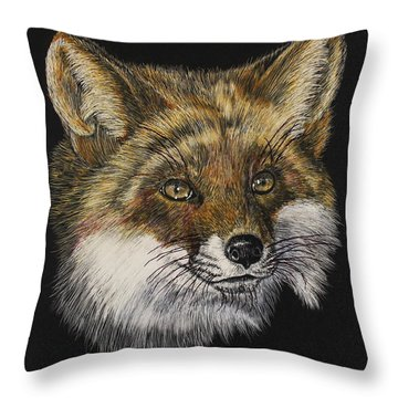 Mr. Red Fox Throw Pillow