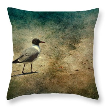 Throw Pillow featuring the photograph Mr. Seagull by Michael Colgate