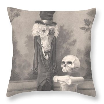 Mr. Skuggins Throw Pillow