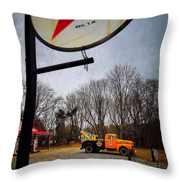 Mr. Towed's Magical Ride Throw Pillow