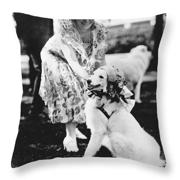 Mrs. Coolidge And Her Dog Throw Pillow