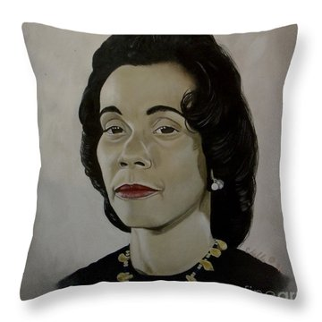 Mrs. Coretta Scott King Throw Pillow