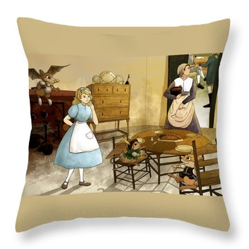 Mrs. Gage's Kitchen Throw Pillow