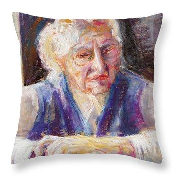 Mrs K. Remembering Throw Pillow by Barbara Pommerenke