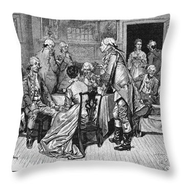 Mrs. Murray And Lord Howe Throw Pillow by Granger
