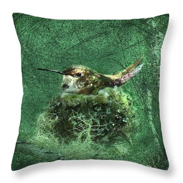 Mrs. Rufous Throw Pillow