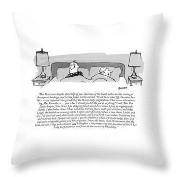 Mrs. Van Lewis-smythe Throw Pillow