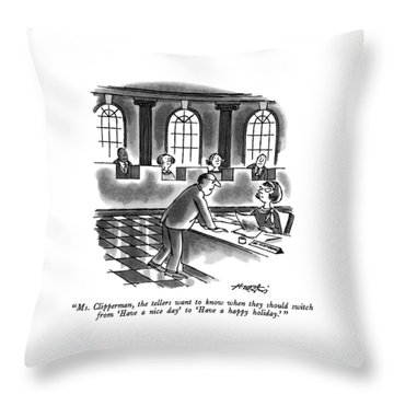 Ms. Clipperman Throw Pillow