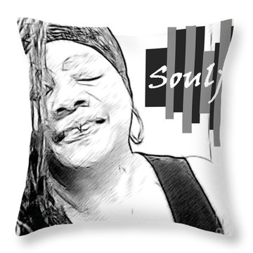 Ms. Jackie 5 Throw Pillow by Jacqueline Lloyd