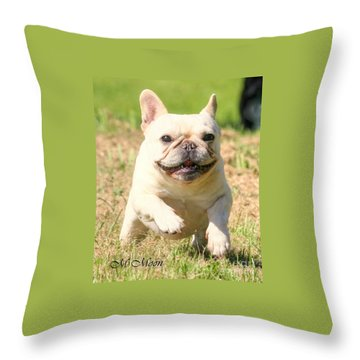 Ms. Quiggly's Olympic Run Throw Pillow