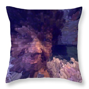 Throw Pillow featuring the digital art Ms. Virginia by Jacqueline Lloyd