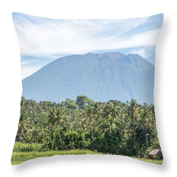 Mt Agung Throw Pillow