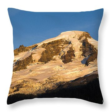 Throw Pillow featuring the photograph Mt.baker At Sunset  by Yulia Kazansky