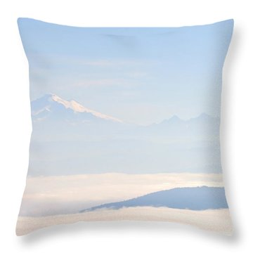 Mt. Baker From San Juan Islands Throw Pillow