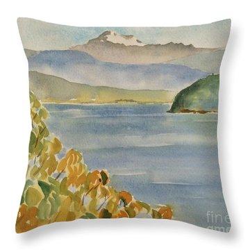 Mt. Baker - Washington Throw Pillow