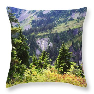 Mt. Baker Washington Throw Pillow