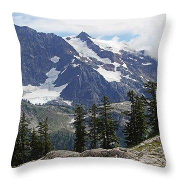Mt Baker Washington View Throw Pillow by Tom Janca