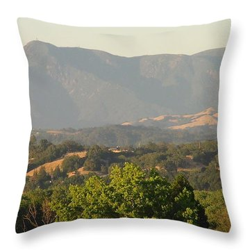 Throw Pillow featuring the photograph Mt. Cali by Shawn Marlow