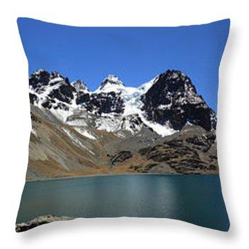 Mt Condoriri Panorama Throw Pillow