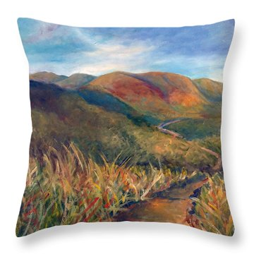Mt. Diablo Hills Throw Pillow