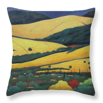Mt. Diablo In Distance Throw Pillow
