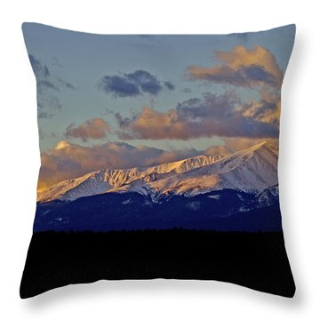 Mt Elbert Sunrise Throw Pillow by Jeremy Rhoades