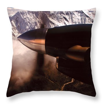 Mt. Everest Throw Pillow