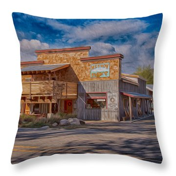 Mt Gardner Inn And Fly Shop Throw Pillow by Omaste Witkowski