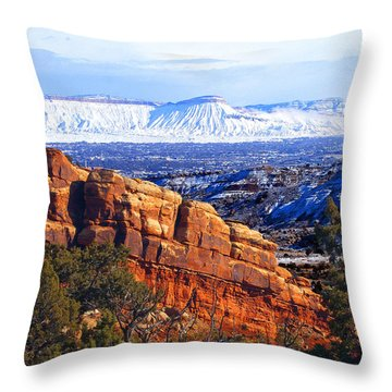Mt. Garfield In The Distance Throw Pillow