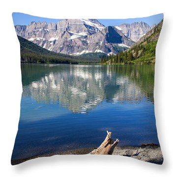 Mt Gould Reflections Throw Pillow