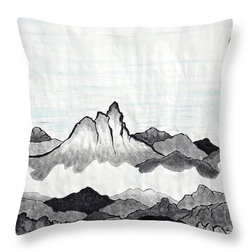 Mt. Himang Throw Pillow by Taikan Nishimoto