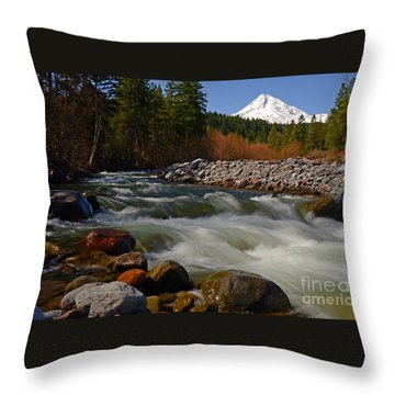 Throw Pillow featuring the photograph Mt. Hood Landscape by Nick  Boren