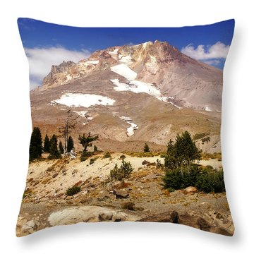 Mt. Hood Throw Pillow by Marty Koch