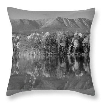 Mt Katahdin Baxter State Park Fall Throw Pillow