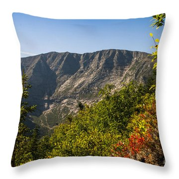 Mt. Katahdin From Hamlin Ridge Throw Pillow