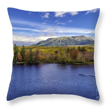 Mt Katahdin Hdr Throw Pillow