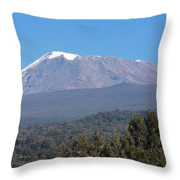 Mt Kilimanjaro  Throw Pillow