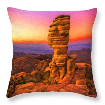 Mt. Lemmon Hoodoo Artistic Throw Pillow