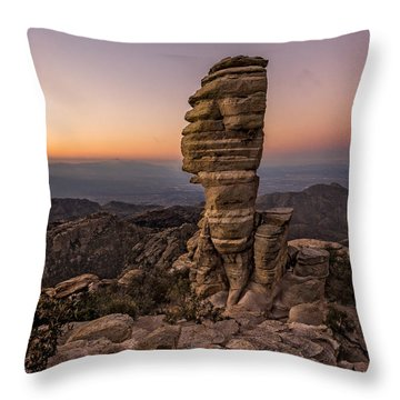 Mt. Lemmon Hoodoo Throw Pillow