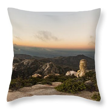 Mt. Lemmon Windy Point Panorama Throw Pillow