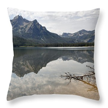 Mt. Mcgowan Reflected In Stanley Lake Throw Pillow