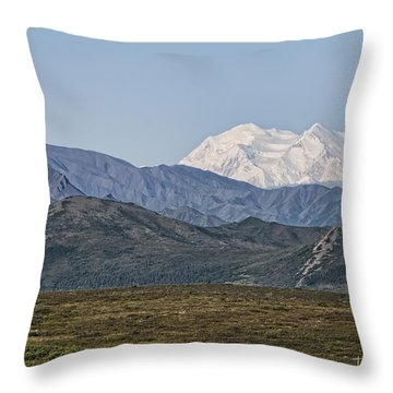 Mt. Mckinley Aka Denali Throw Pillow
