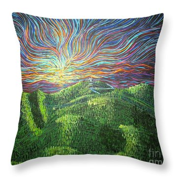 Mt. Mitchell  Throw Pillow